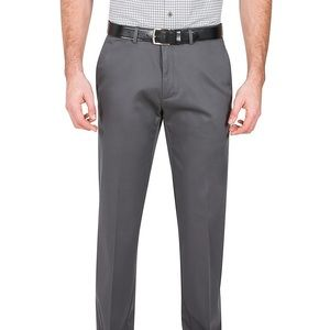 HAGGAR Pant Grey Khaki Men's No Iron New 36x32